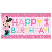 Minnie Fun To Be One Horizontal Giant Banner 1st Birthday Party - $4.35