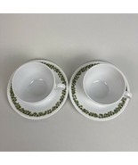 Corelle Crazy Daisy Spring Blossom 4pc Coffee Tea Cup & Saucers Set Repl... - $9.89