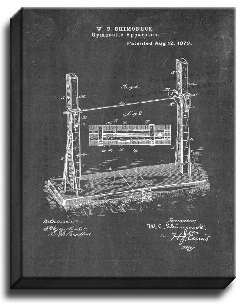 Primary image for Gymnastic Apparatus Patent Print Chalkboard on Canvas