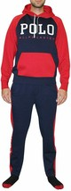 POLO RALPH LAUREN Color Block Logo Track Pants XL Red - $124.95