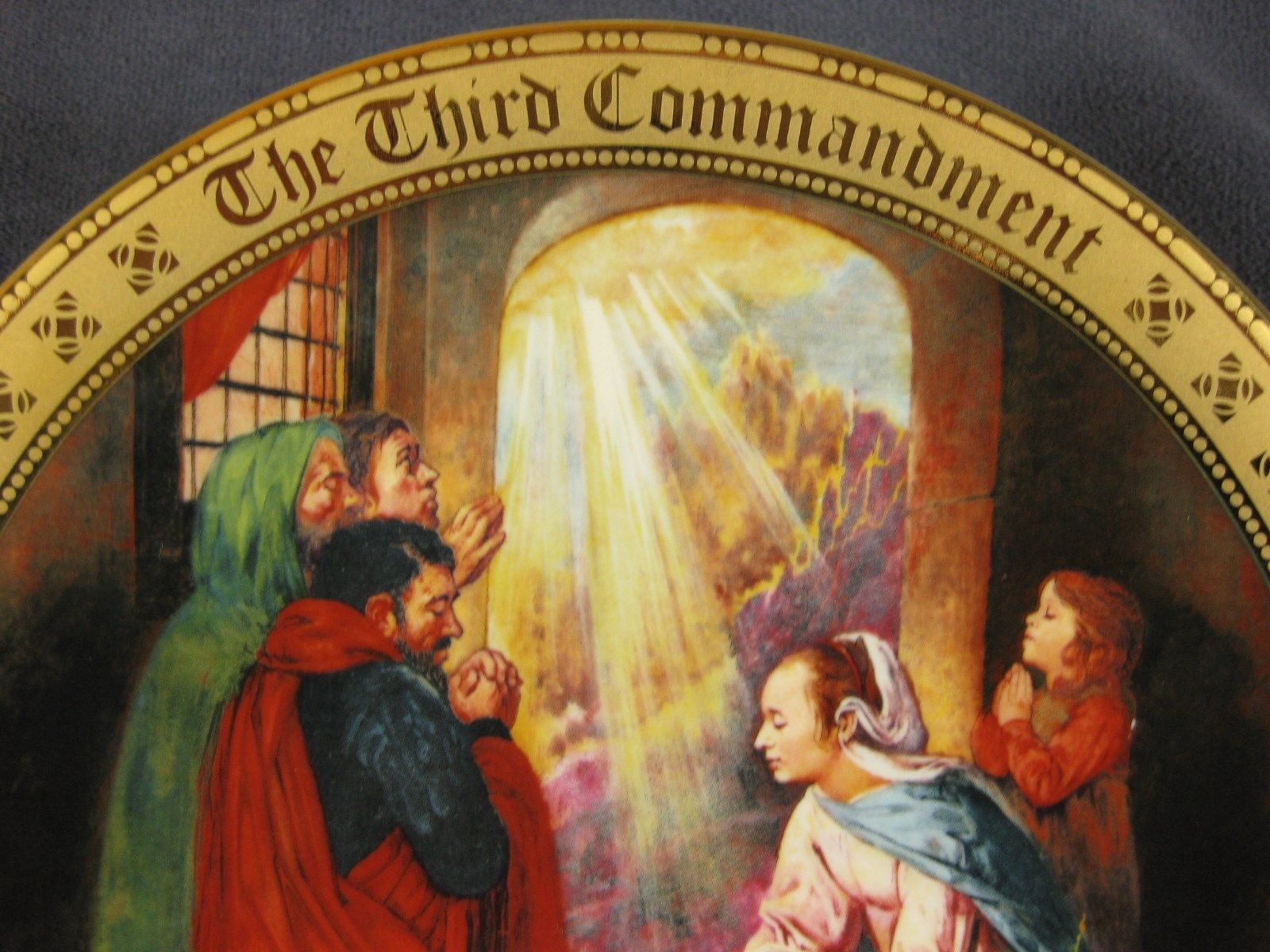 Keep Holy The Lords Day Collector Plate Ten Commandments Mary Mayo Danbury Mint image 2