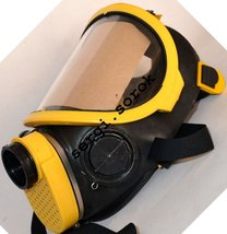 Full Face Yellow Facepiece GENUINE Gas Mask Respirator IZOD GP9 with GP-... - $60.16