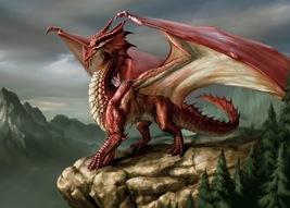 Dragons  Red      2.5 x 3.5 Fridge Magnet - $3.99
