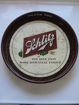 SCHLITZ,THE BEER THAT MADE MILWAUKEE FAMOUS ADVERTISING BAR SERVING TIP ... - $61.75