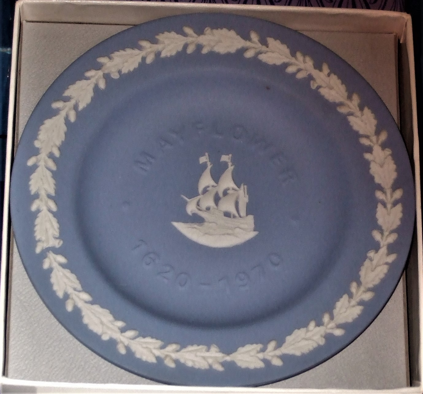 Wedgwood - Mayflower Sweet Dish in Blue & White Jasper