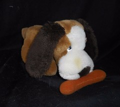 "11"" VINTAGE 1984 COMMONWEALTH BROWN PUPPY DOG W/ BONE STUFFED ANIMAL PLU... - $23.38"