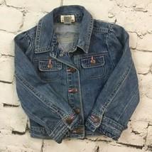 Oshkosh Girls Sz 4 Jean Jack Blue Denim Snap-Up 100% Cotton  - $19.79