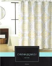 Cynthia Rowley Emma Medallion Damask Shower Curtain In Shades Of Grey, Y... - $33.31