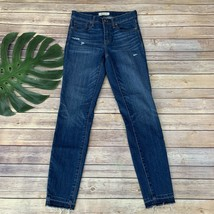 "Madewell 9"" High Riser Skinny Skinny Jeans Size 26 Raw Let Down Hem Dist... - $32.66"
