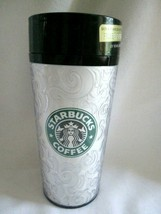 Vtg Starbucks Tumbler Swirls 16 oz ThermoServ USA 1998 with Lid Mermaid ... - $19.80