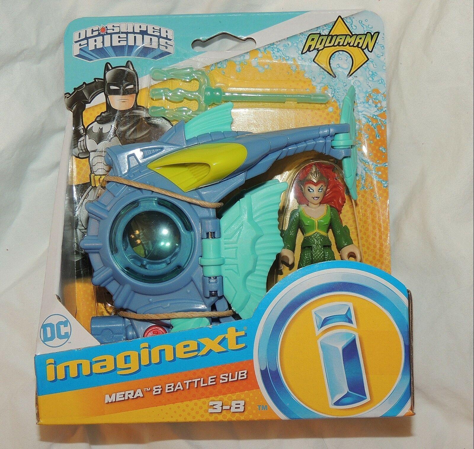 New Fisher Price Imaginext Aquaman Playset 4 Pce Set Mera Black Manta Aqua Man