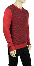 NEW MENS GEOFFREY BEENE CREW NECK CHEVRON PRINT PULLOVER SWEATER 2XL $75 - $19.99