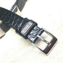 funky Kenneth Cole genuine leather watch band 12mm Black wrap around 2pc  - $17.76
