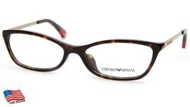 New Emporio Armani Ea 3014F 5026 Dark Havana Eyeglasses Frame 54-16-140mm B29mm - $53.96