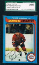 1979-80 Topps #211 Pierre Mondou Canadiens JSA Auto - $19.75