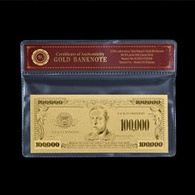WR US $100000 Gold Banknote Dollar Bill In COA Sleeve World Banknote Col... - $5.70