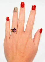4.00 Ct Oval Cut Pink Sapphire Women's Solitaire Ring 14k Yellow Gold Fi... - $96.45