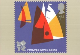 Paralympic Olympic Games Sailing Boat Race Sports Postcard - $6.99
