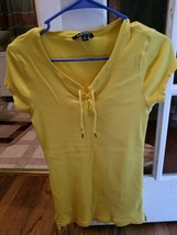 TWO Ralph lauren Olive Green Long Sleeve S YELLOW M SHORT SLEEVE TOP - $6.76