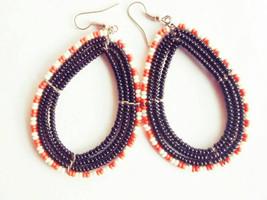 African Masai earrings |beaded earrings |african earrings for women - $4.99
