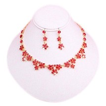 Glamorous Wedding Necklace & Earrings Set Great Bridesmaids or Bridal Jewelry