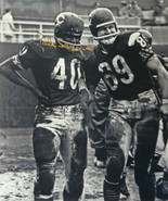 Gale Sayers Signed Chicago Bears Standing On Field With Mike Ditka 16x20... - $99.00