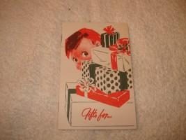 VINTAGE 1950s CHRISTMAS BANK BOOK CLUB BOWLING GREEN OHIO UNUSED - $14.84