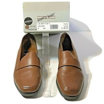 What's What By Aerosoles Womens Size 9 AA Shoes Flats Brown LYN SOFTY Leather  - $24.74