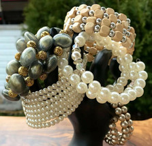 Retro Bracelets Wrap Around Cuffs Costume Jewelry Lot Mixed - $55.26