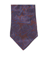 Don Loper Beverly Hills Tie Burgundy Red Blue 58 Inch 3.5 inch Wide - $12.86