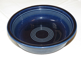 """Fiesta Homer Laughlin China Co Made in USA cereal bowl 6 7/8"""" cobalt blue*^ - $13.36"""