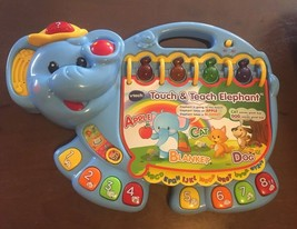 VTech Touch and Teach Elephant Book Educational 16 Interactive Pages ABC... - $7.91