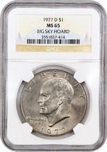 1977-D $1 NGC MS65 ex: Bucky Hoard - Eisenhower Dollar - £23.01 GBP