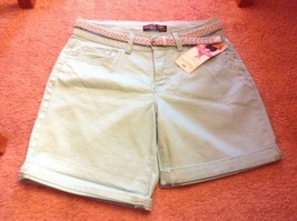 Riders by Lee NWT Women's Mid-Rise Stretch  6 in Shorts sz 6 aqua blue new - $13.10