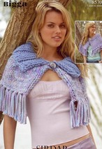 2 Capes Sirdar Bigga Knitting Pattern #8570 Age 7-Adult - $2.22