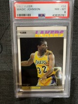 1987 Fleer #56 Magic Johnson PSA 8  NEAR MINT  - $49.00