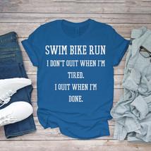 Swimming Funny Tee Triathlon Swim Bike Run Unisex - $15.99+
