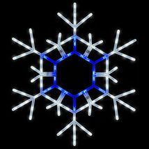 "LED Christmas Snowflake Blue White Lighted Outdoor Decoration Display 36"" - $69.99"