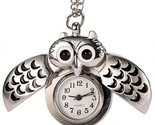 REATR Pocket Watch Alloy Cute Owl Pendant Vintage Quartz Watch With Gift Chain