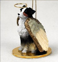 AUSSIE AUSTRALIAN SHEPHERD DOCKED TRICOLOR ANGEL DOG CHRISTMAS ORNAMENT ... - $12.98