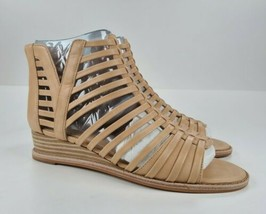 Vince Camuto Exposed Ankle Wedge Sandals Revey Natural Two Tone Luxe 7 M - $37.62