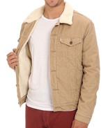 Levi's Men's Classic Corduroy Sherpa Trucker Button Up Jacket 723360004 - $75.95
