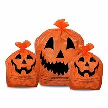 KINREX Halloween Pumpkin Plastic Lawn and Leaf Bags Decoration - Outdoor... - €10,11 EUR