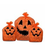 KINREX Halloween Pumpkin Plastic Lawn and Leaf Bags Decoration - Outdoor... - £9.03 GBP