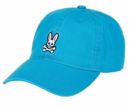 Psycho Bunny Men's Cotton Embroidered Strapback Sports Baseball Cap Hat image 10