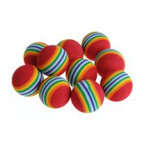 10 Pcs Colorful Pet Rainbow Foam Fetch Balls Training Interactive Dog Ca... - £4.02 GBP