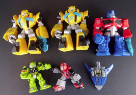 Lot of 6 Transformers Toys Cake Toppers Action Figures Non Transforming ... - $9.95
