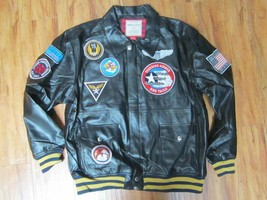 Tuskegee Airmen Red Tails Jacket US Air Force Red Tails 332nd Polyurethane Coat - $98.00