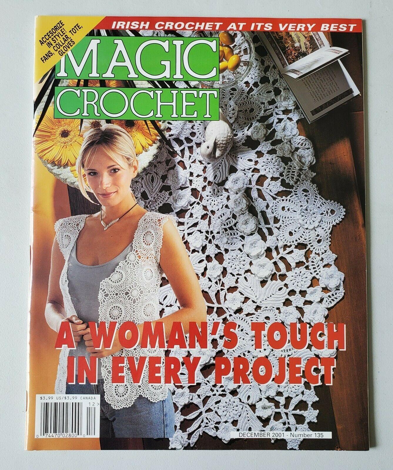 Crochet Magic Crochet Magazine Chart Pattern Magazine December 2001  - $9.99