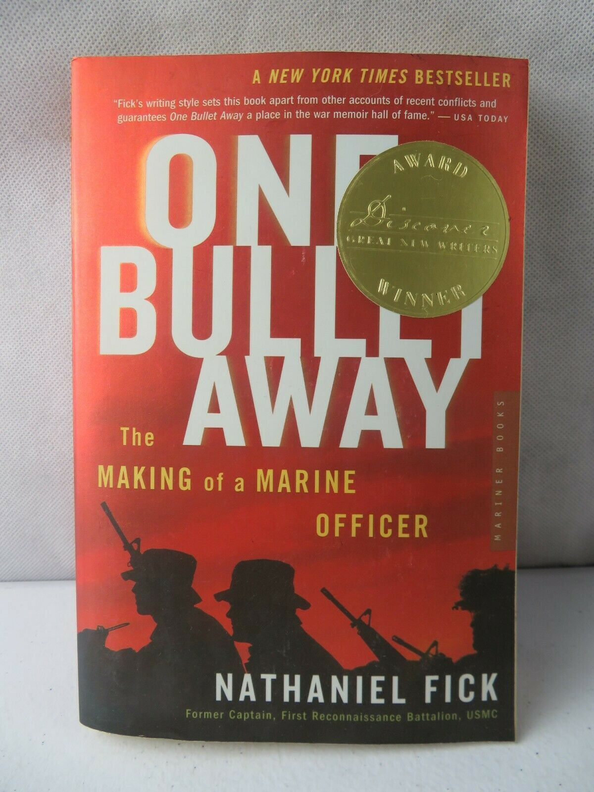 Primary image for One Bullet Away The Making of a Marine Officer BOOK by Nathaniel C. Fick
